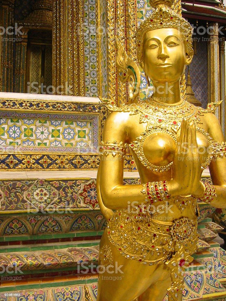 golden girl bangkoks grand palace royalty-free stock photo