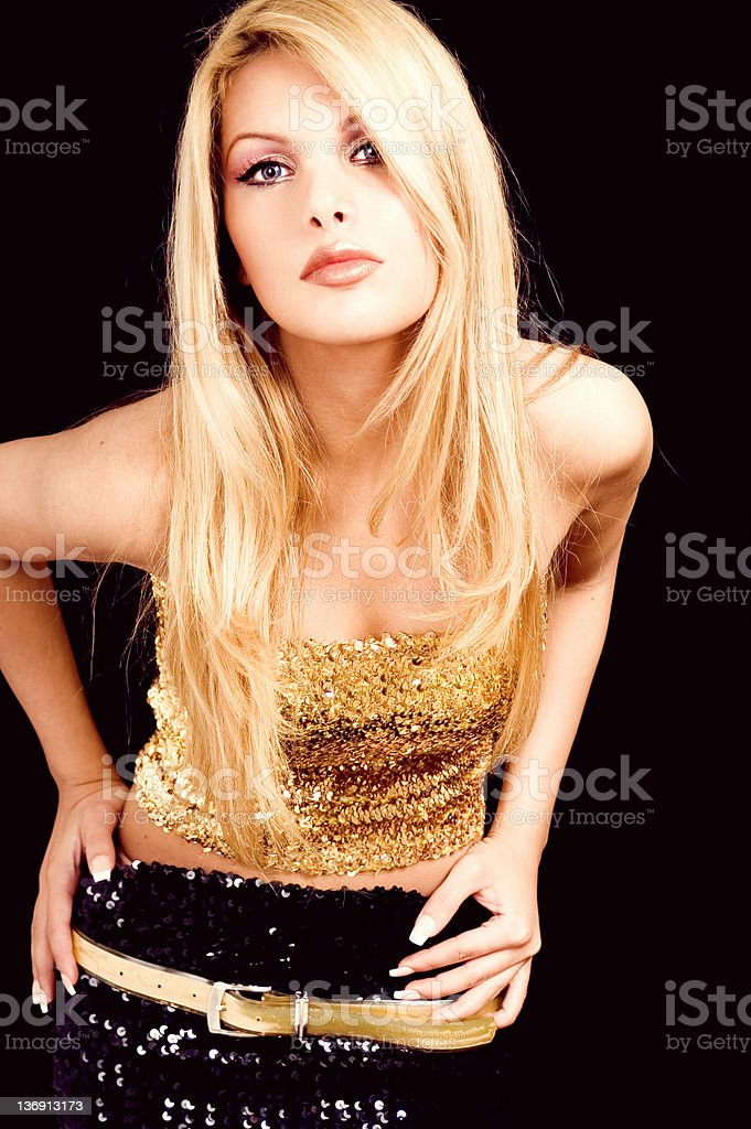 Golden Girl royalty-free stock photo