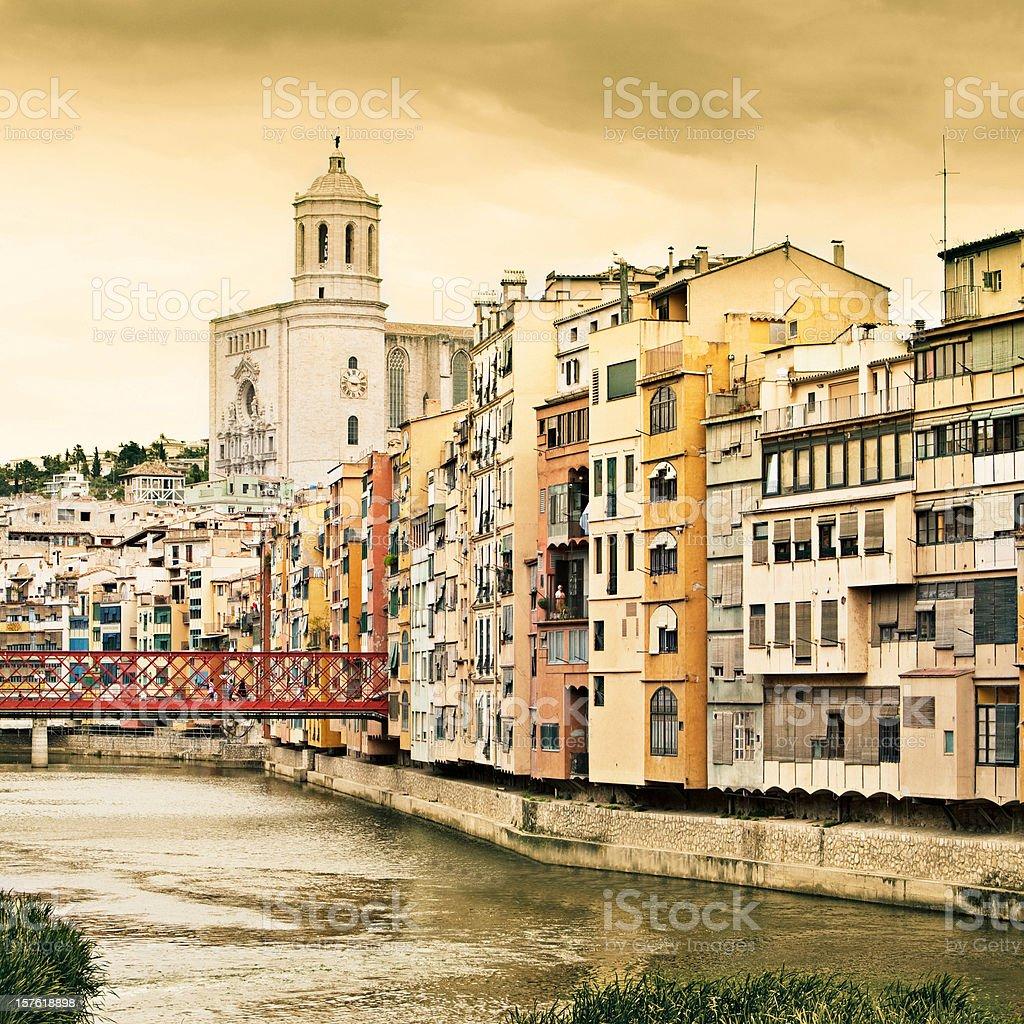 Golden Girona royalty-free stock photo