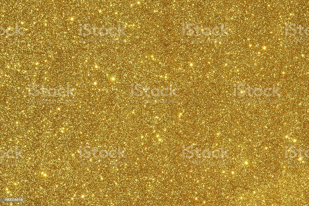 Golden glitter background stock photo