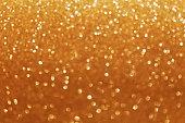 Golden glitter bokeh background