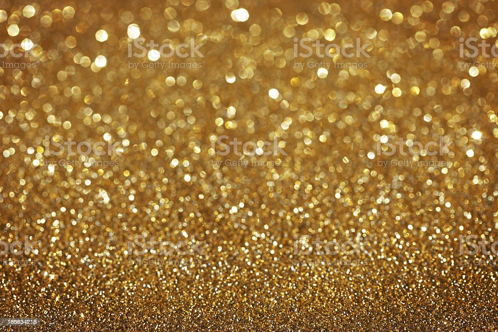Golden Glitter Christmas Background royalty-free stock photo