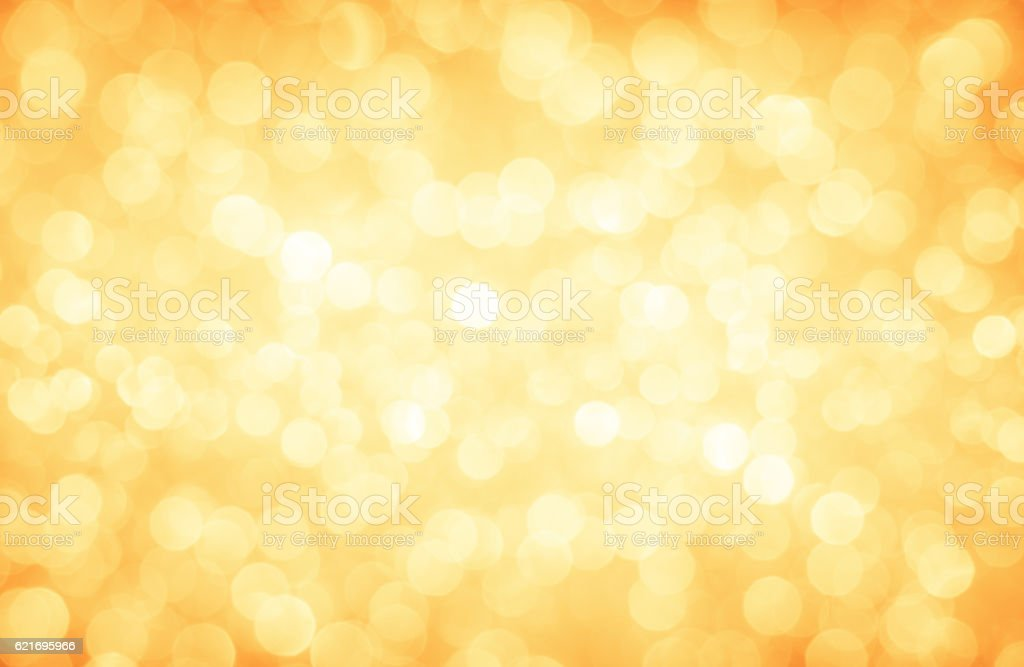 Golden glitter defocused lights christmas abstract background stock photo