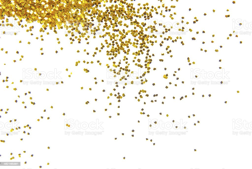 golden glitter frame background stock photo