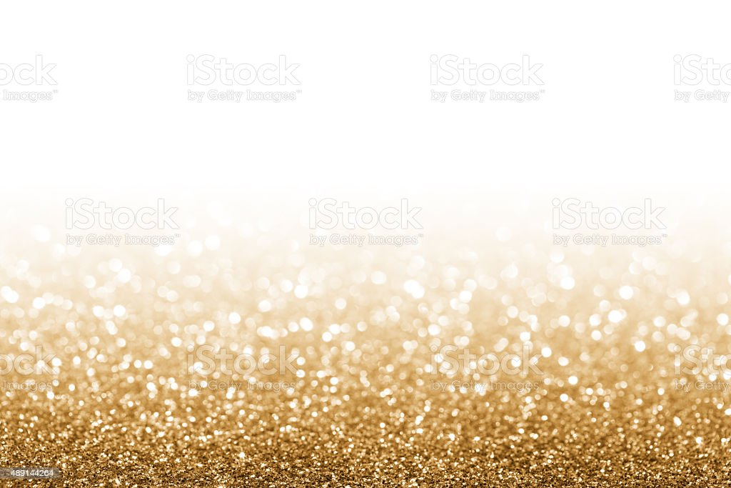 Golden glitter stock photo