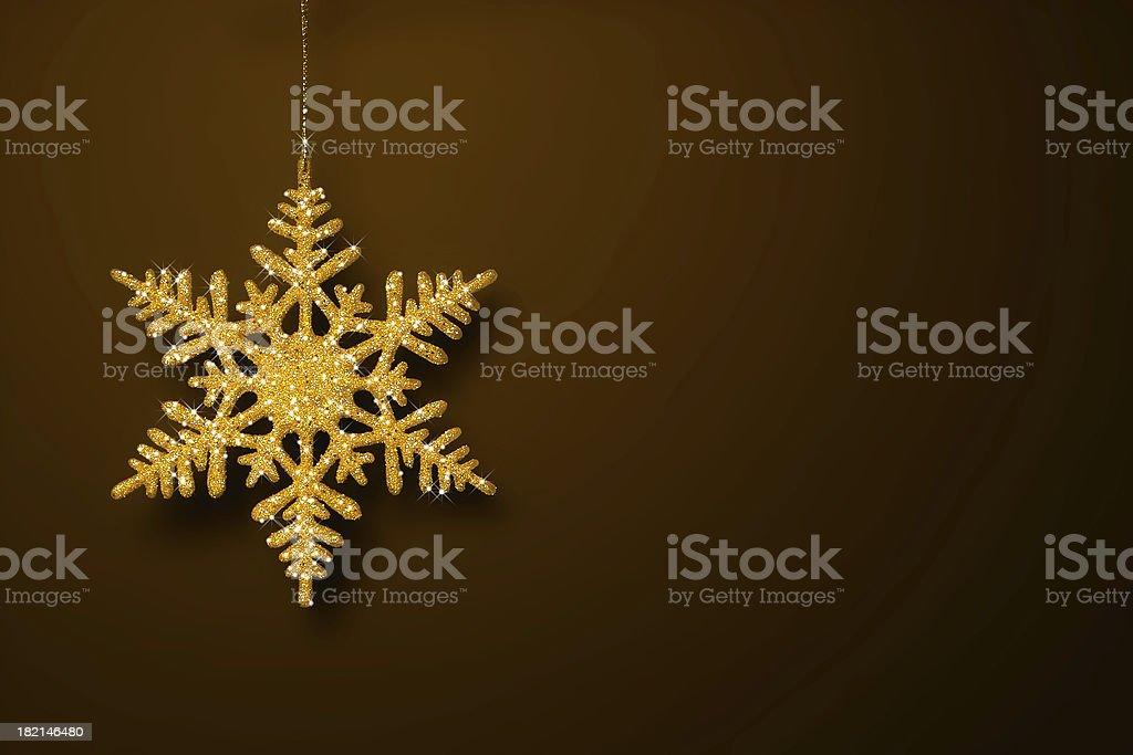 Golden Glitter Snowflake royalty-free stock photo