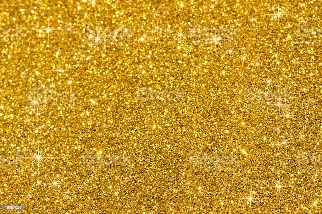 Golden glitter texture christmas background stock photo