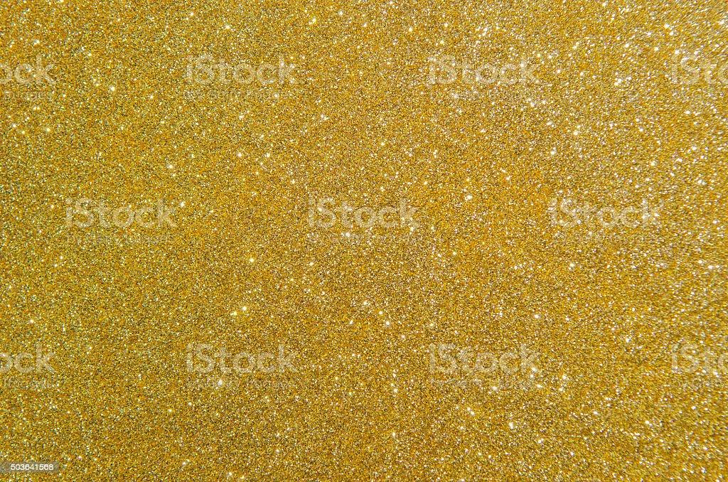 Golden glitter texture stock photo