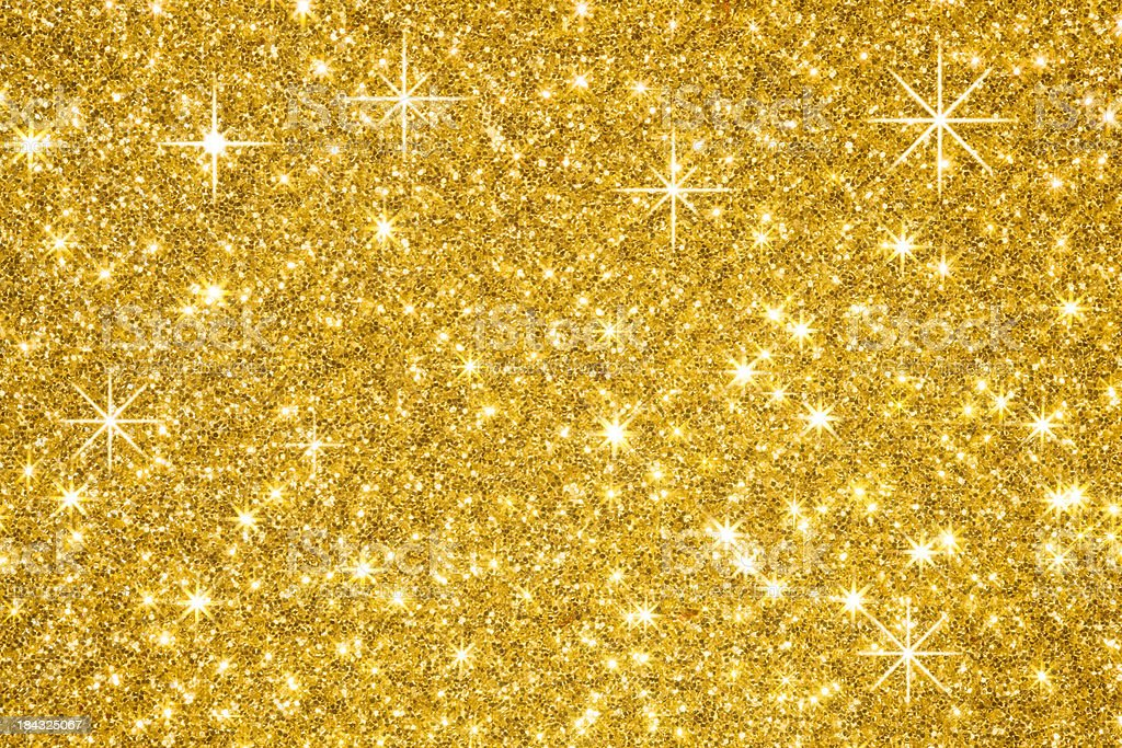 Golden Glitters Background stock photo