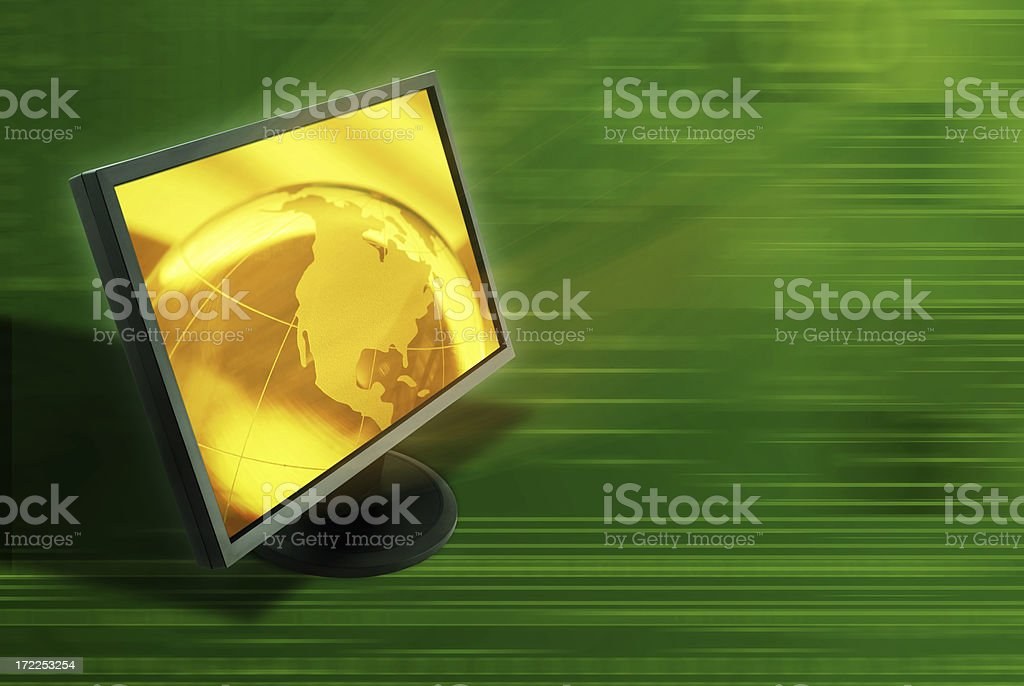Golden Globe Abstract royalty-free stock photo
