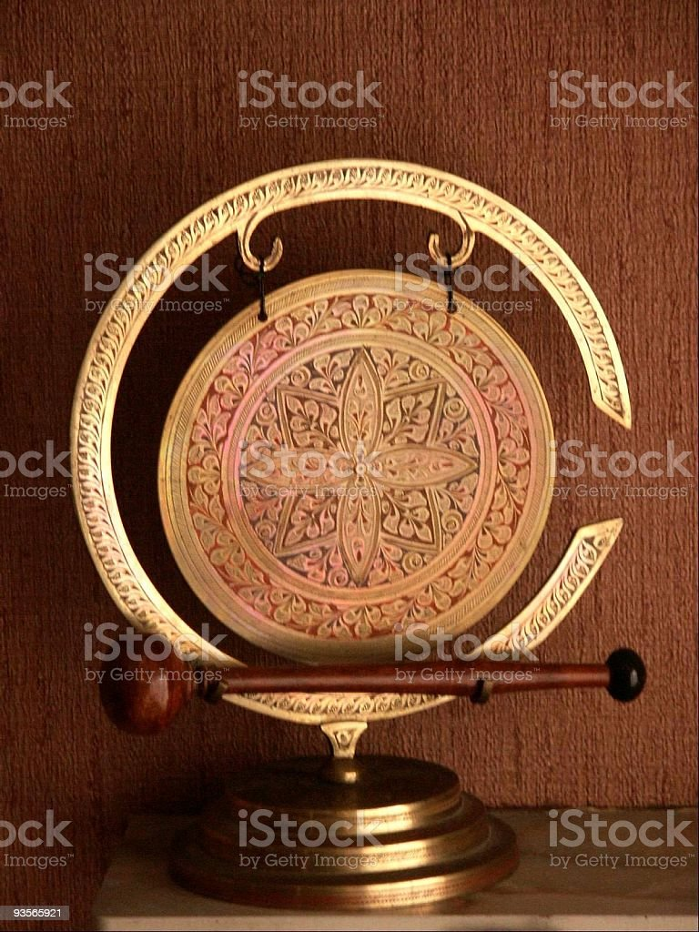 golden gong stock photo