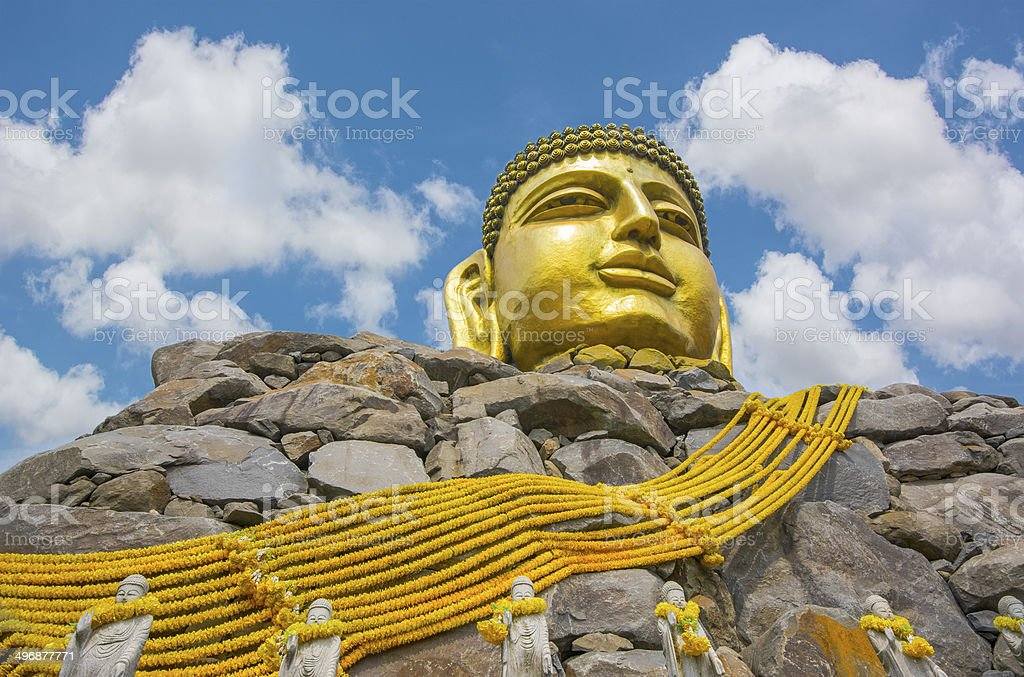 Golden Graet Buddha; Korea royalty-free stock photo