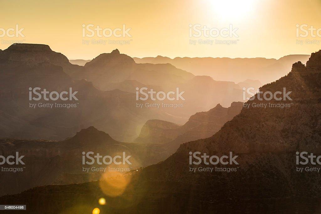 Golden Grand Canyon stock photo