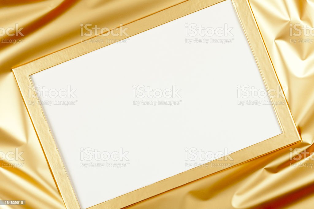 Golden Greeting Card stock photo