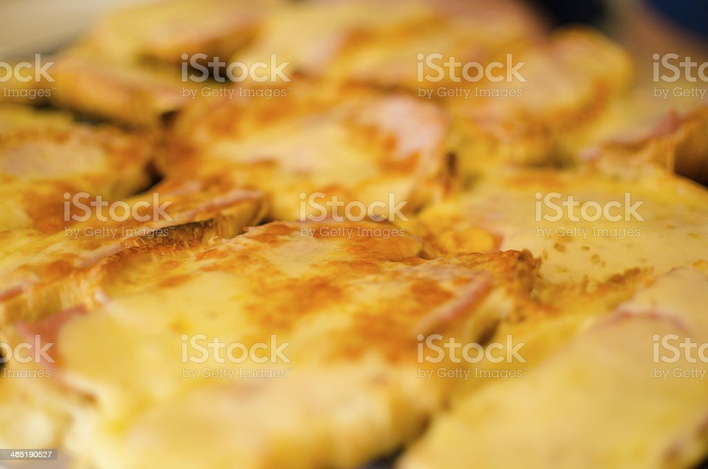 Golden Grilled Cheese Croissants stock photo