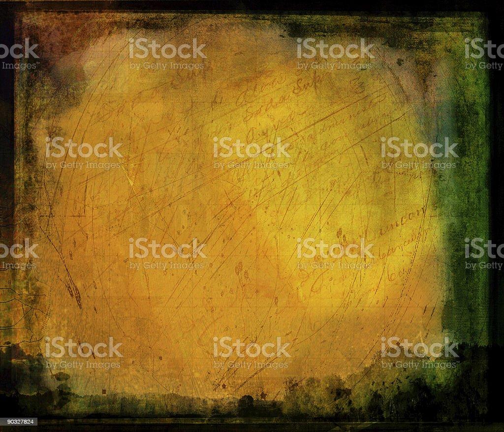 Golden Grunge royalty-free stock photo