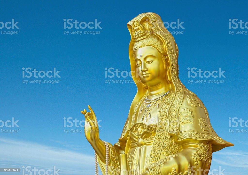 golden guanyin stock photo