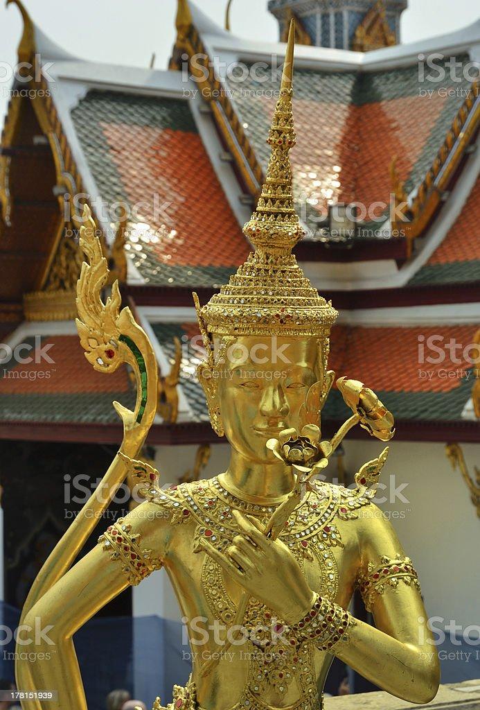 golden guard in bangkok royalty-free stock photo