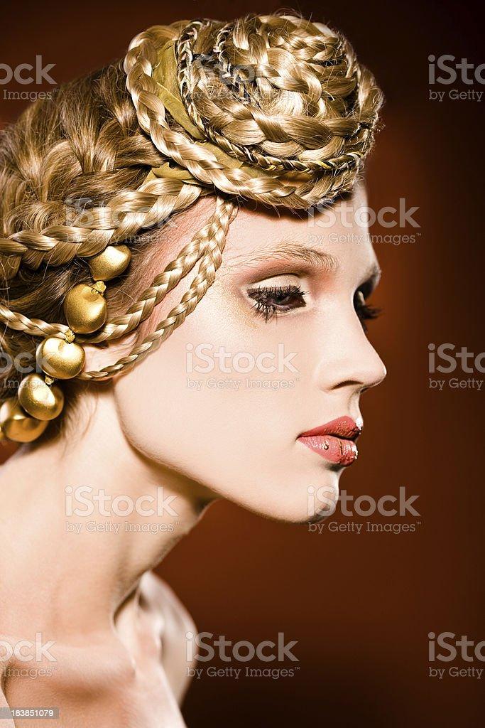 Golden Hair royalty-free stock photo