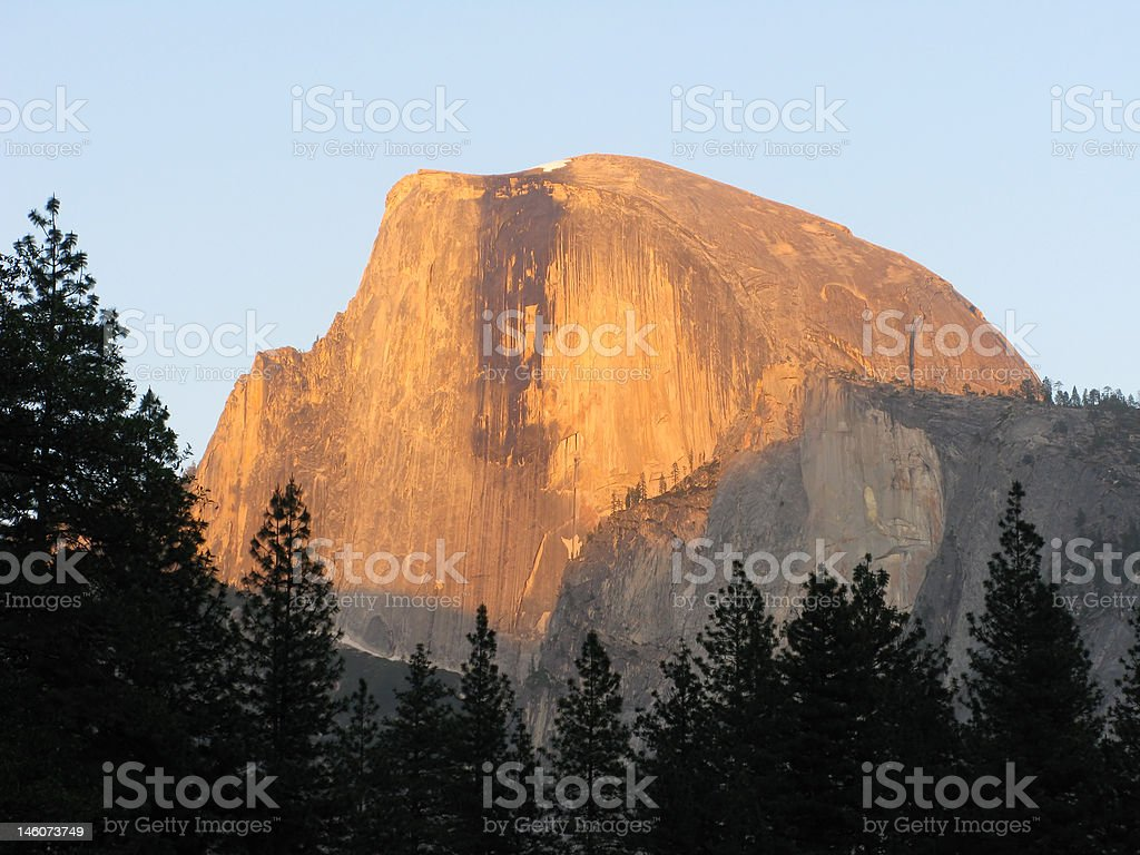 Golden Half Dome royalty-free stock photo
