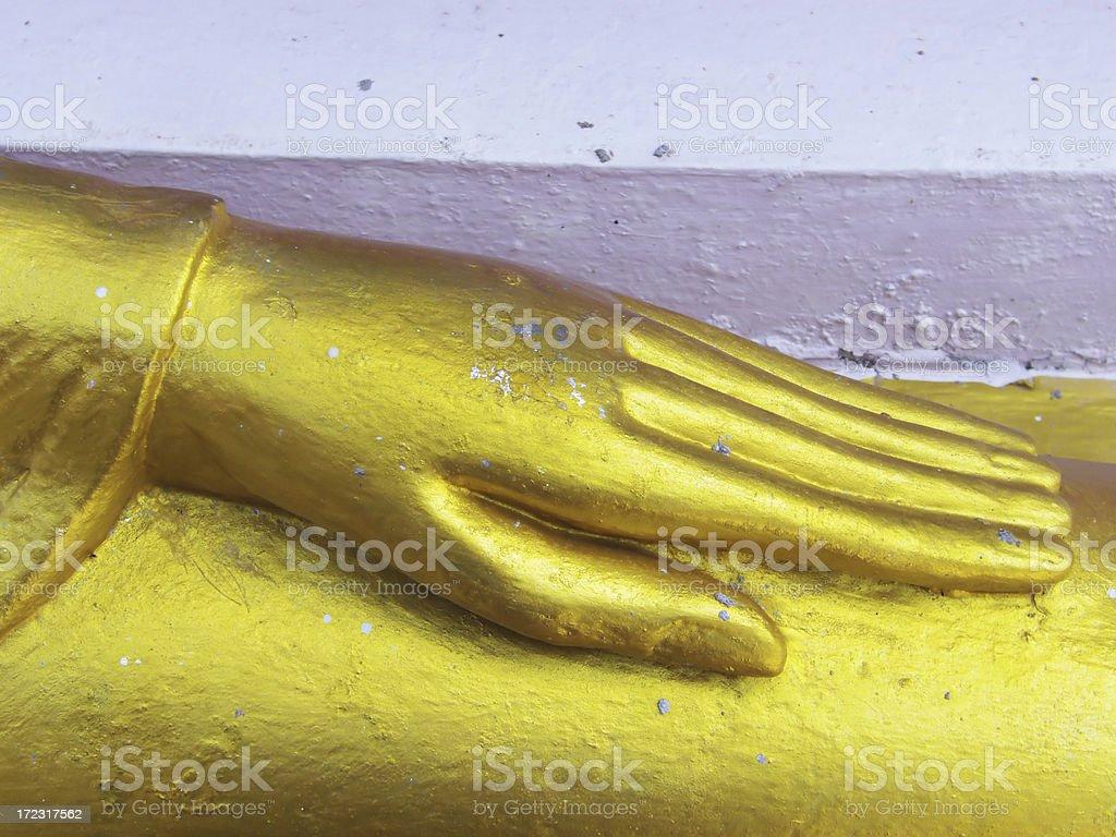 golden hand royalty-free stock photo
