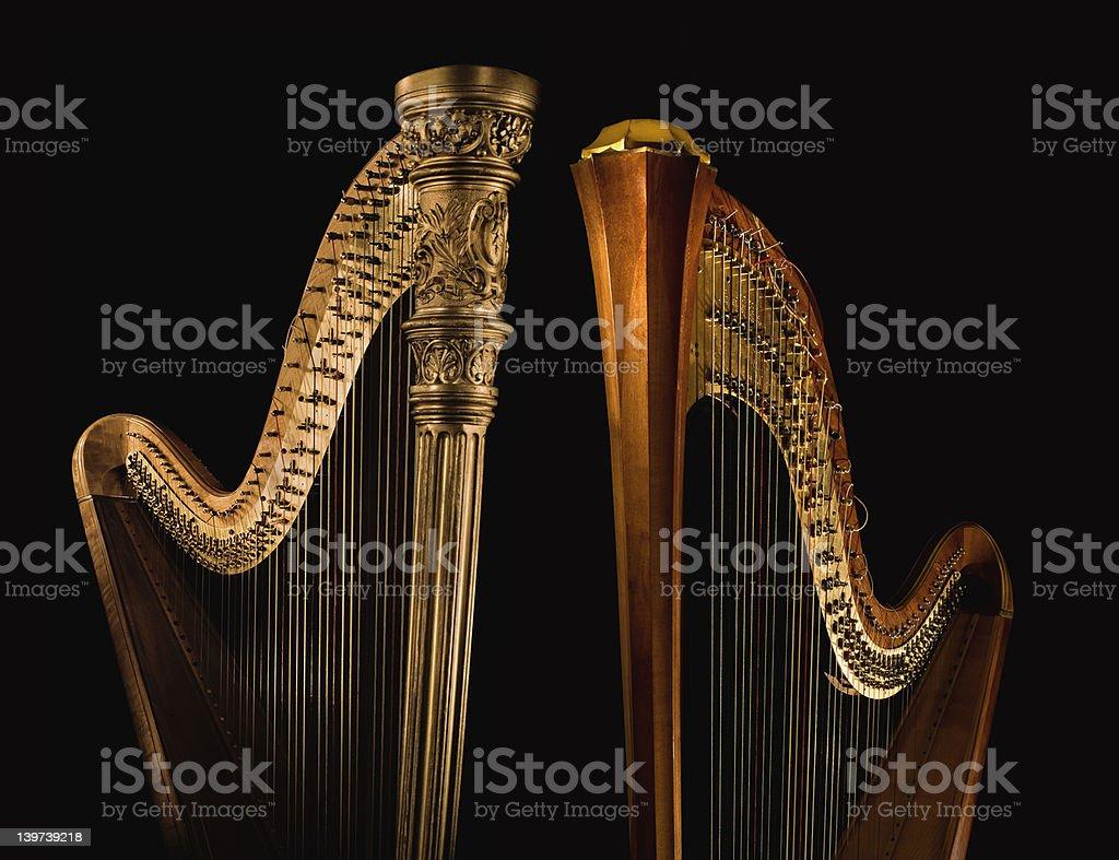 Golden harp 2 stock photo