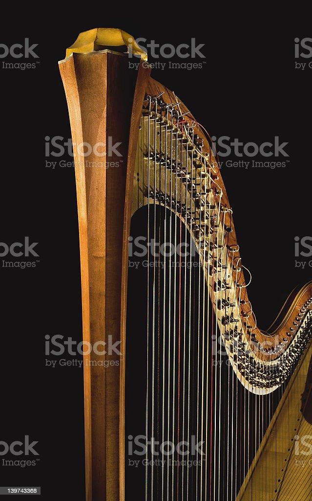 Golden harp 4 stock photo