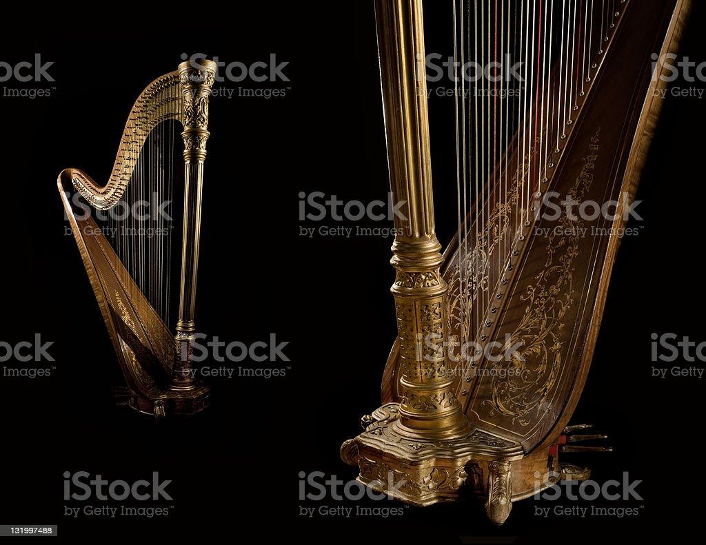 Golden harp 8 stock photo