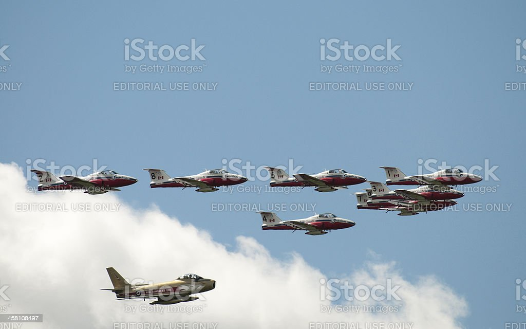 Golden Hawk & Snowbirds stock photo