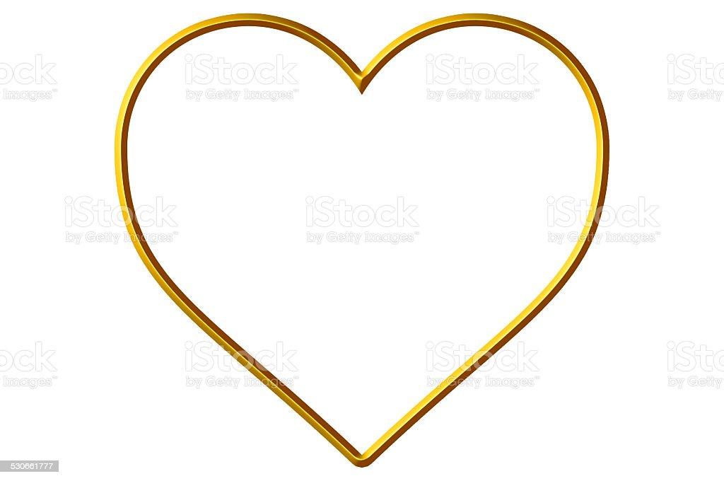 Golden Heart Frame/Border stock photo