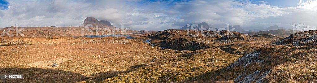 Golden Highland wilds panorama royalty-free stock photo