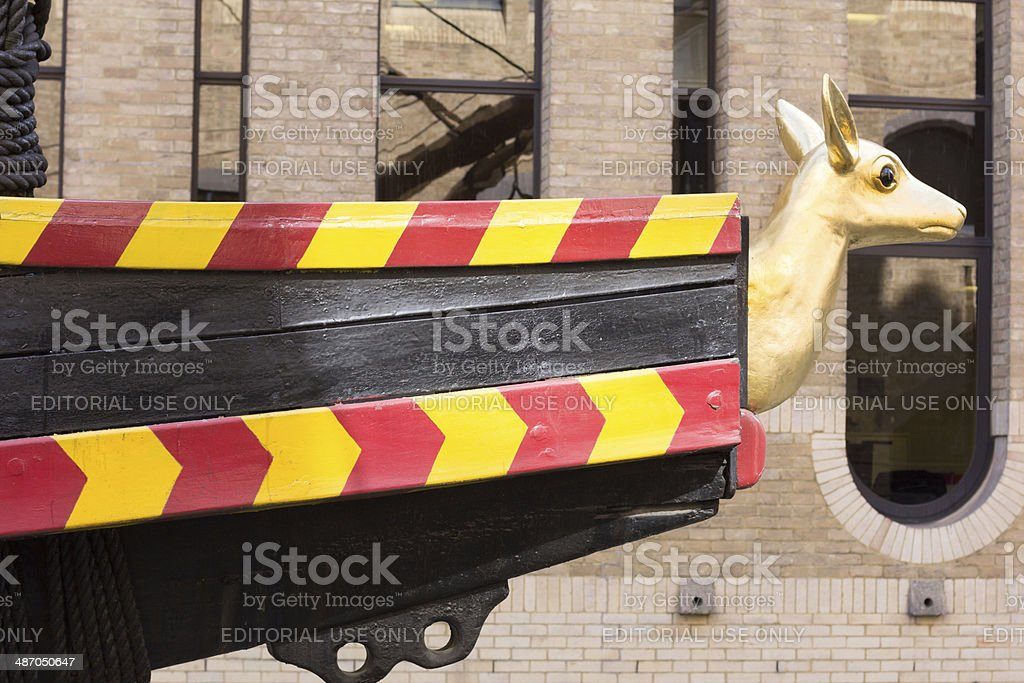 Golden Hinde in Pickfords Wharf, London stock photo