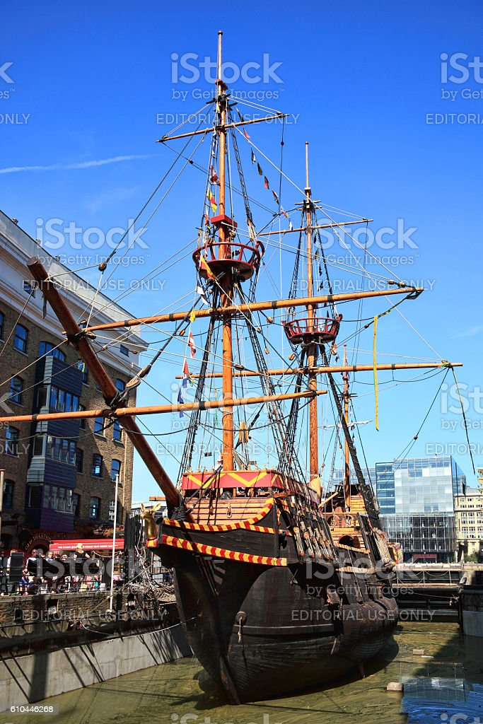Golden Hinde stock photo