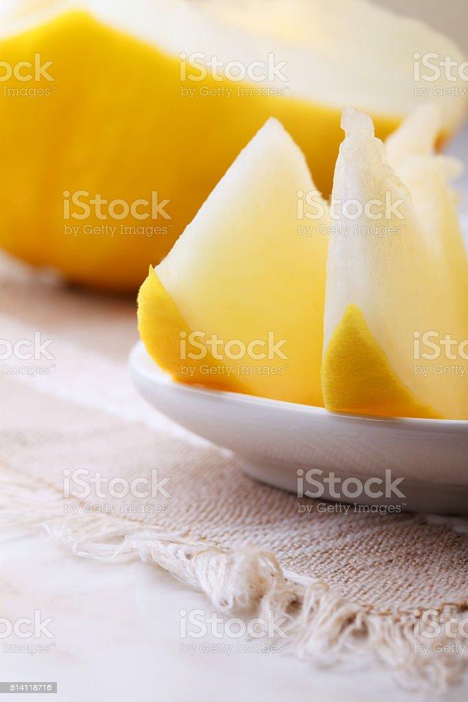 Golden honeydew melon stock photo