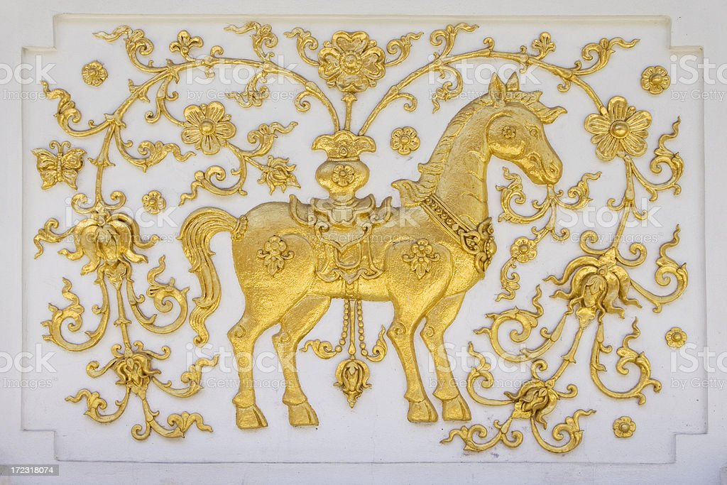 Golden Horse royalty-free stock photo
