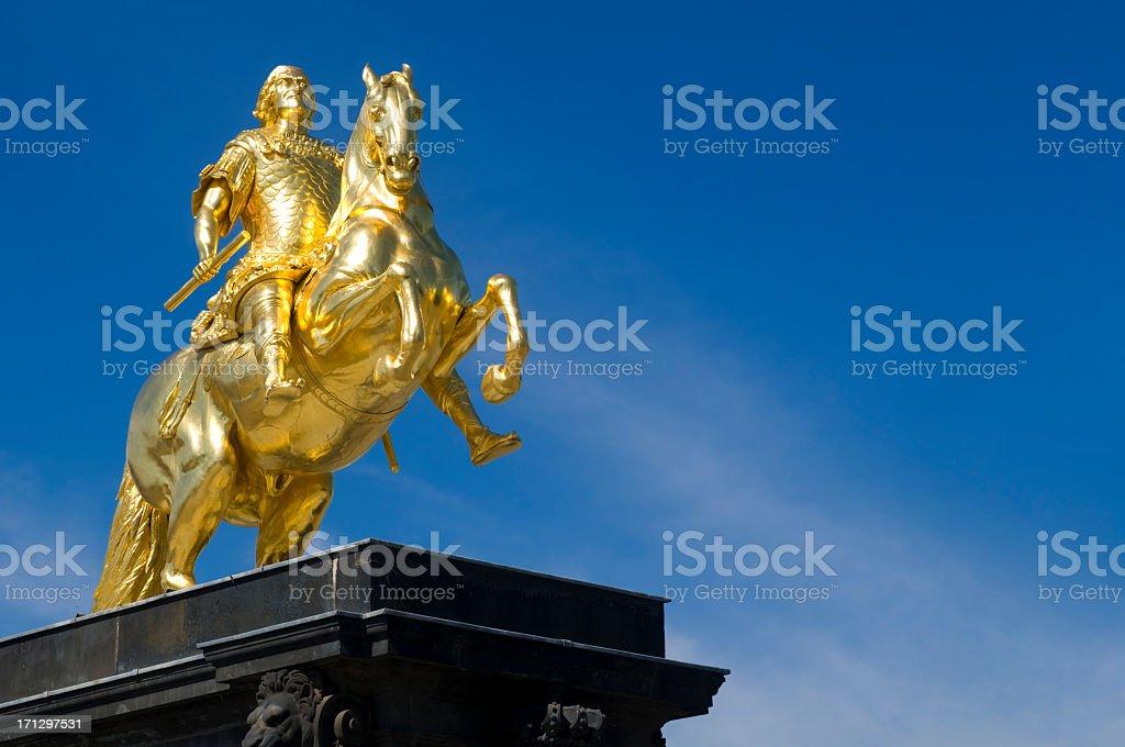 Golden Horseman, Dresden, Germany stock photo