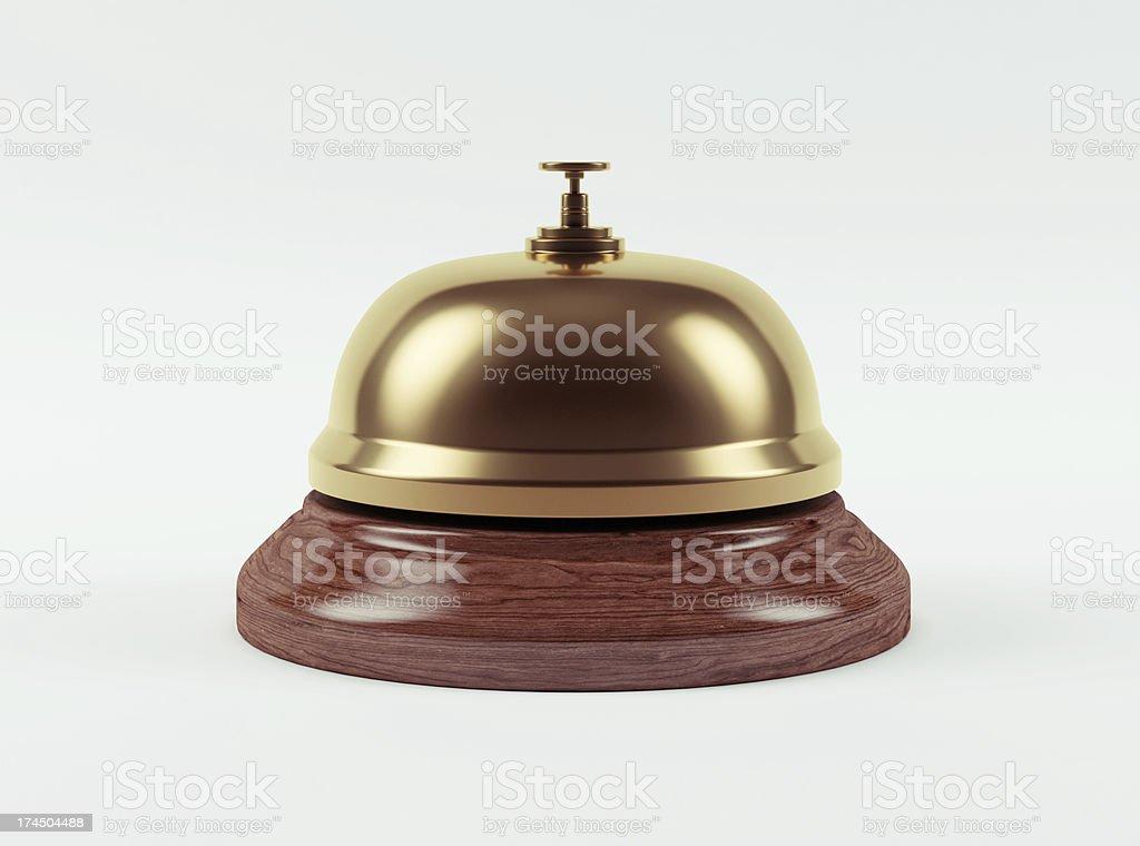 Golden Hotel Bell stock photo