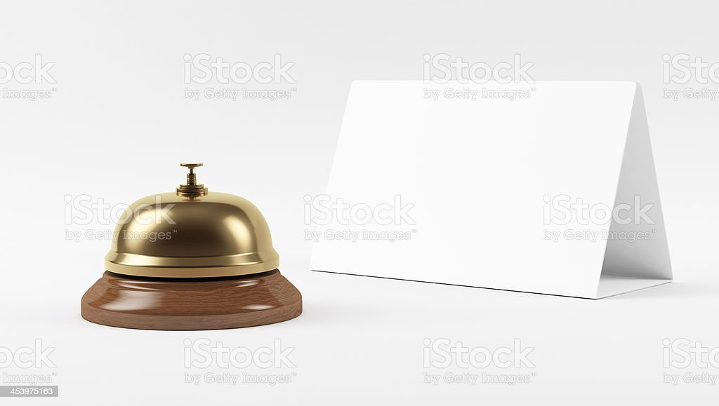 Golden Hotel Bell royalty-free stock photo