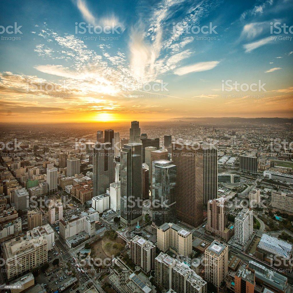 Golden Hour in Los Angeles stock photo