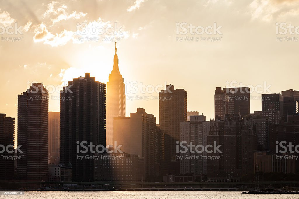 Golden Hour NYC stock photo