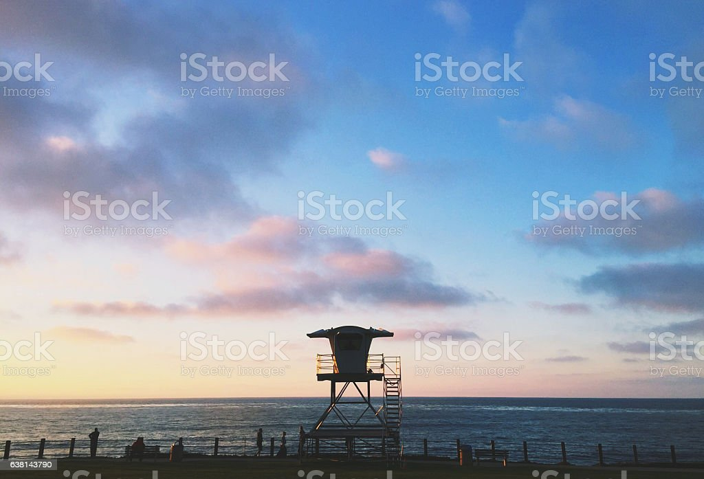 Golden Hour on the Coast in California stock photo