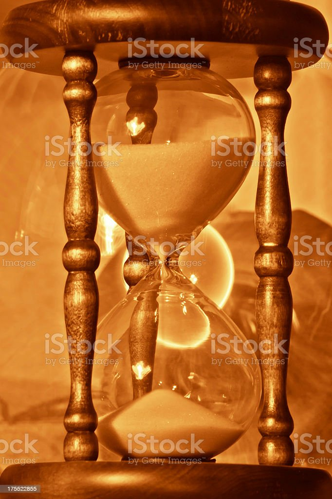 golden hourglass royalty-free stock photo
