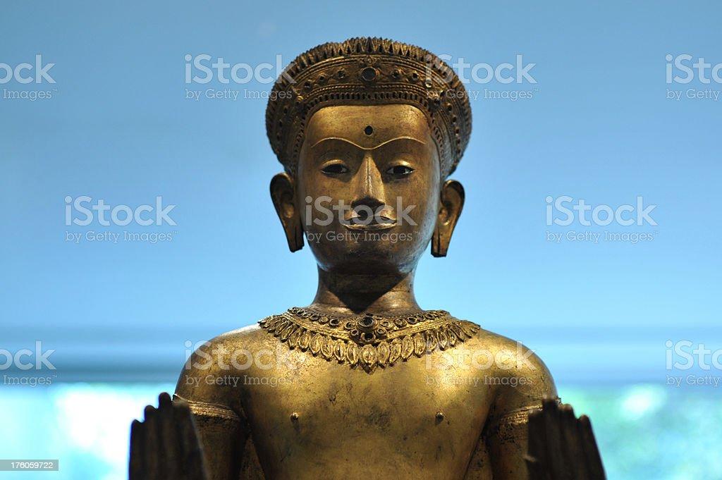 Golden Indian god stock photo