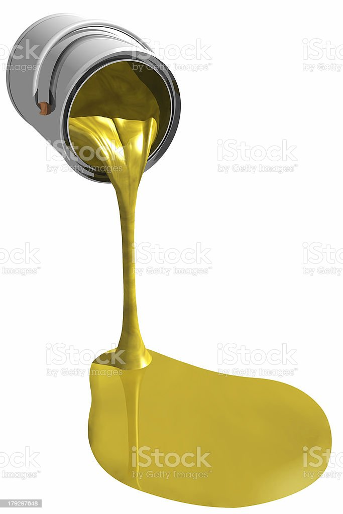 Golden Ink - 3D stock photo