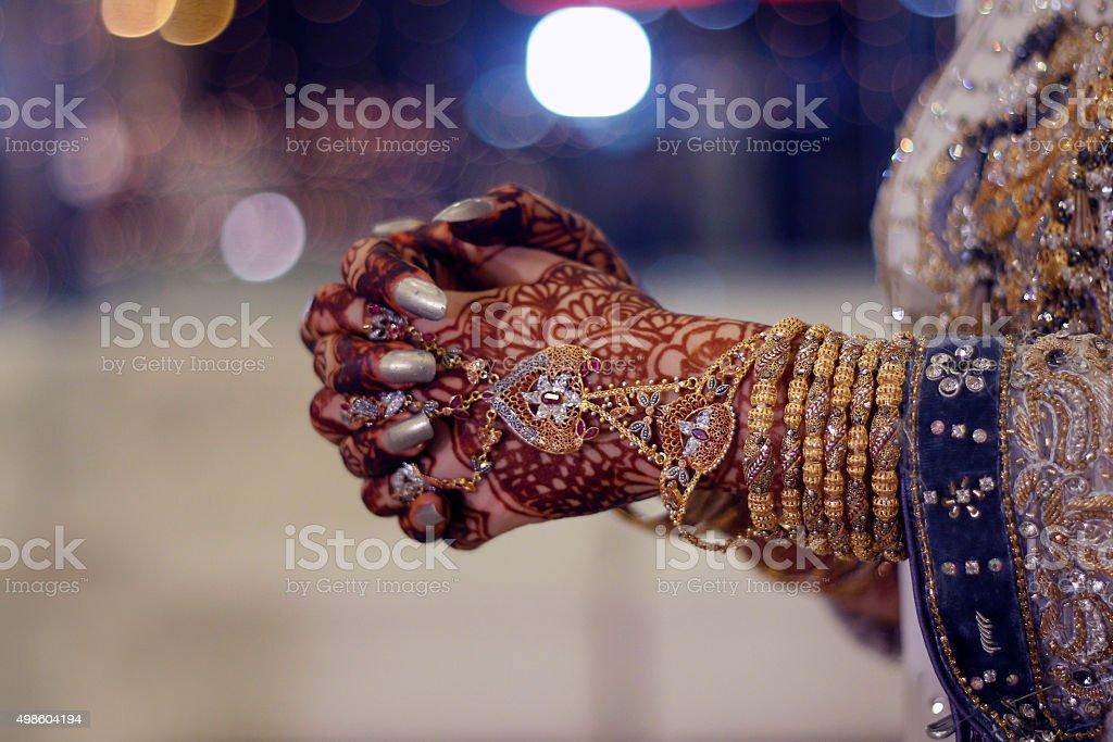 Golden jewellery stock photo