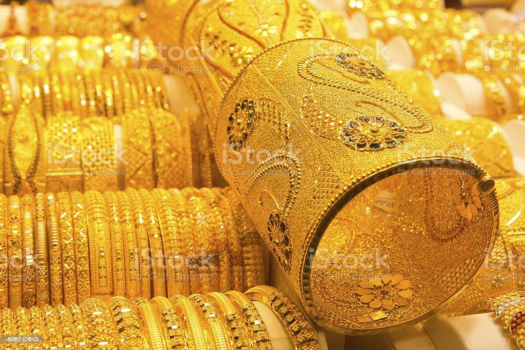Golden jewelry royalty-free stock photo