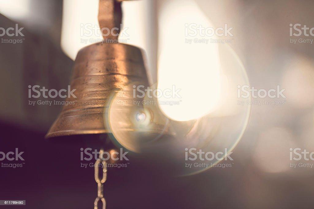 Golden jingle stock photo