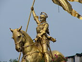 Golden Joan of Arc Statue