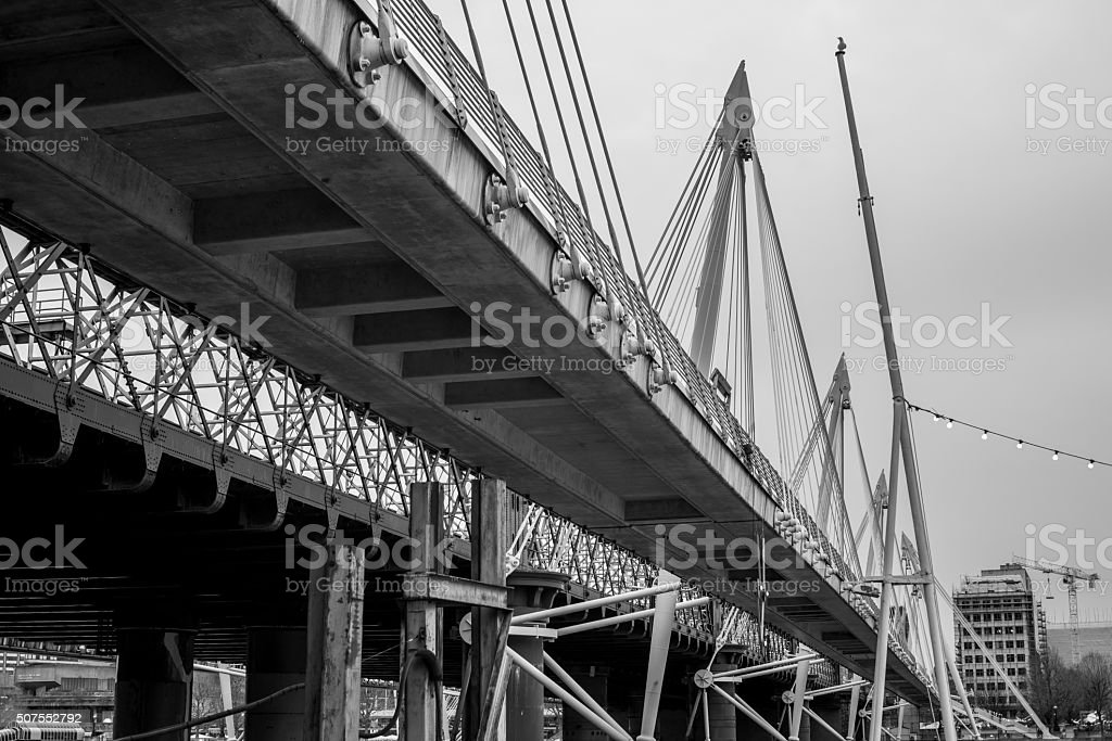Golden jubilee bridge stock photo