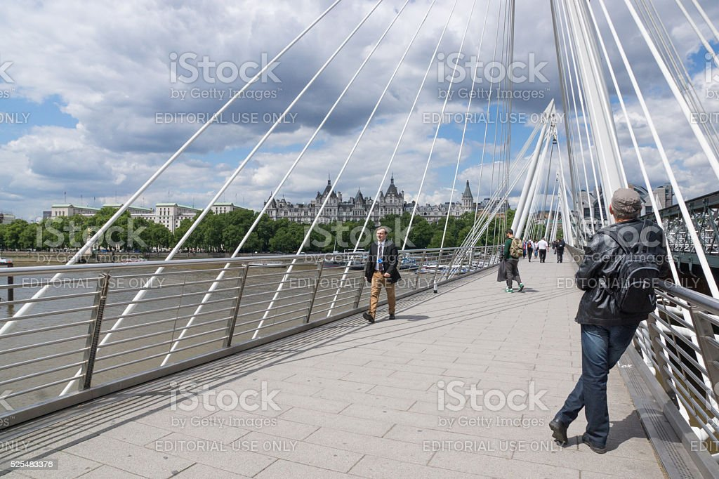 Golden Jubilee pedestrian bridge stock photo